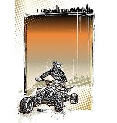 quad bike poster vector image vector image