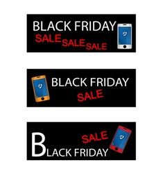 Black Friday Shopping Promotion with Smart Phone vector image vector image