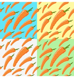 carrot pattern on a colored background vector image vector image