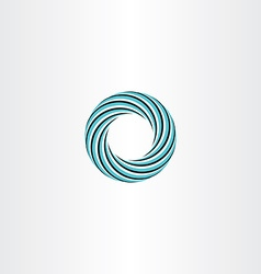 circle abstract icon logo sign rotation vector image