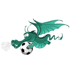 dragon and soccer ball vector image