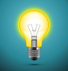 Light bulb on blue background vector image