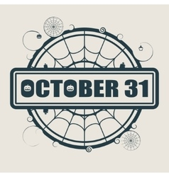 Stamp with October 31 text vector image vector image