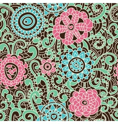 stylish floral pattern vector image