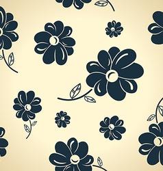 Vintage black flowers Seamless background vector image vector image