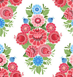 vintage seamless texture with stylized floral vector image vector image