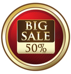 Big Sale Advertisement Label vector image