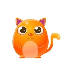 Cat Baby Animal In Girly Sweet Style vector image vector image