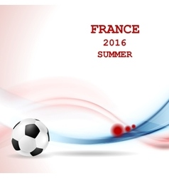Euro Football Championship in France vector image vector image