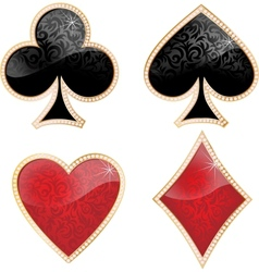 Playing card decorated with brilliants and texture vector image