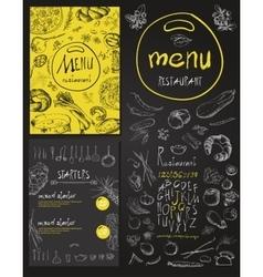Restaurant Food Menu set Vintage Design with vector image