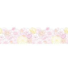 Wedding bouquet flowers horizontal seamless vector image vector image