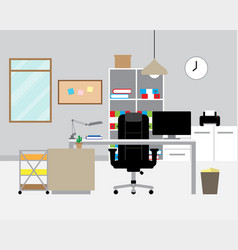 workspace - modern office vector image