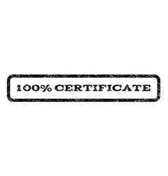100 percent certificate watermark stamp vector