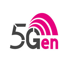 5g network logo logo network 5g connection vector image