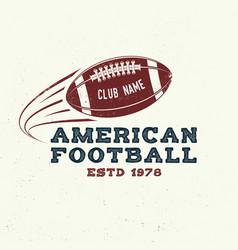 American football or rugclub badge vector