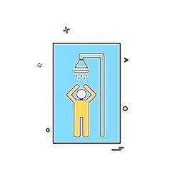 bathroom icon design vector image
