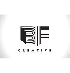 Bf logo letter with black lines design line letter vector