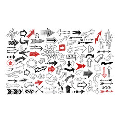 Big collection doodle sketch arrows vector