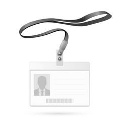 Blank badge vector