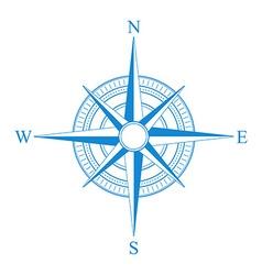 Blue compass icon vector