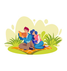 books reading flat set vector image