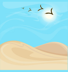 Bright hot desert landscape background vector