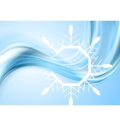 Bright waves Christmas background with big vector image
