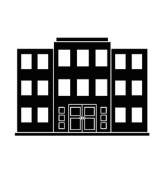 building front isolated icon vector image