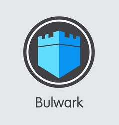 Bulwark cryptocurrency - icon vector
