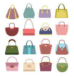 casual womens leather handbags and purses ladies vector image
