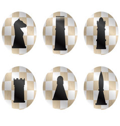 Chess figures icon set vector