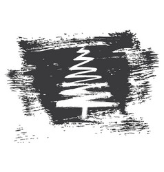 Christmas tree sketch isolated on white background vector