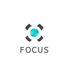 Circle focus logo vector