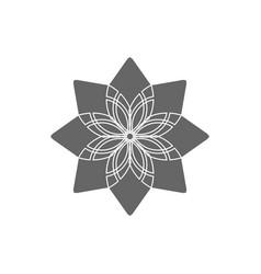 Circular geometrical ornament vector