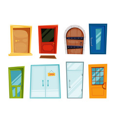 closed doors different types vector image