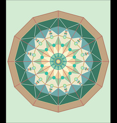 complex islamic geometrical ornament in a circle vector image
