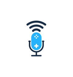 console podcast logo icon design vector image