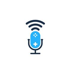 Console podcast logo icon design vector