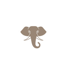 creative brown elephant head logo vector image