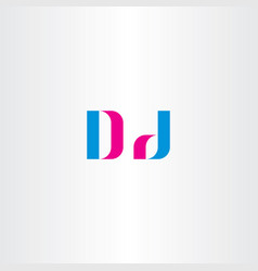 d letter logo sign element symbol vector image