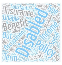 Disability Insurance Online text background vector