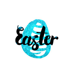 easter greeting inscription vector image