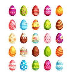 easter realistic egg set egg hunt sunday vector image