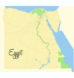 Egypt map geographic map vector
