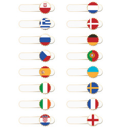 Euro flag tabs vector