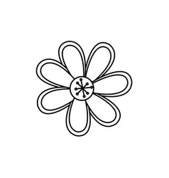 Figure flower with oval petals icon vector