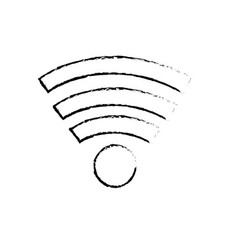 Figure wifi technology to connect in the digital vector