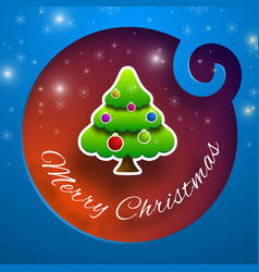 front merry christmas brochure template design vector image