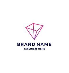 geometric prism logo blockchain bitcoin ethereum vector image